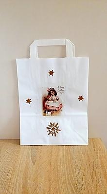 Iné tašky - darčeková taška dievčatko - 13829376_