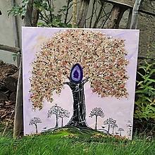Obrazy - Strom duchovného poznania a magickej ochrany - 13827469_