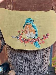 Iné tašky - Maľovaná taška Vtáčik - 13826879_