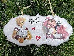 Dekorácie - vianočná tabuľka 3 - 13827435_