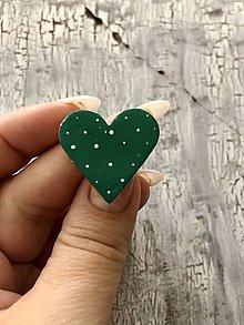 Brošne - bodkovaná brošňa (menšia smaragdová) - 13825207_