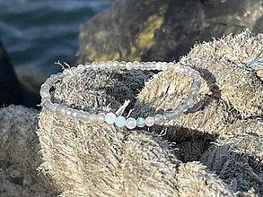 Náramky - Nežný Labradorit s Akvamarínom - 13834001_