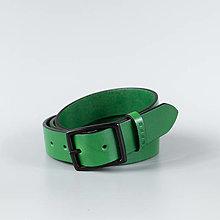 """Opasky - Zelený kožený opasok do riflí """"Emerald"""" - 13830960_"""