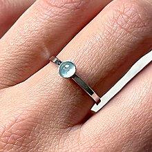 Prstene - Simple Aquamarine AG925 Ring / Jemný strieborný prsteň s akvamarínom - 13830326_