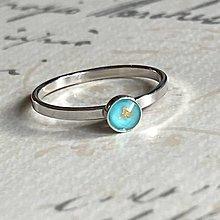 Prstene - Simple Turquoise Doublet AG925 Ring / Jemný strieborný prsteň s tyrkysovým dubletom - 13830606_