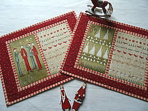 Úžitkový textil - 12 Days of Christmas ... prestieranie 2 ks - 13833131_