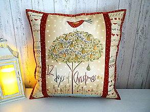 Úžitkový textil - 12 Days of Christmas ...vankúš - 13833156_