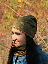Čiapky - Dizajnová úpletová čiapka jeseň - 13833469_