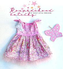 Detské oblečenie - Ružové víly s krídlami 104/110 - 13830267_