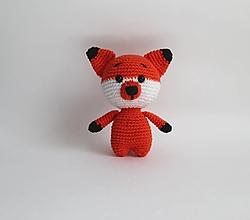 Hračky - Háčkované mini zvieratká (Líštička) - 13832900_
