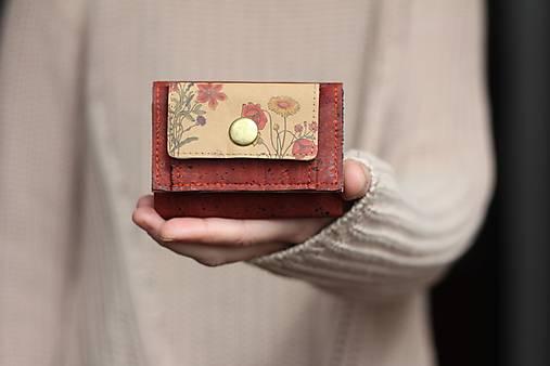 Peňaženky - Mini trifold korková peňaženka  - 13834266_