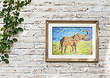 Kresby - Slon pre šťastie - 13834507_