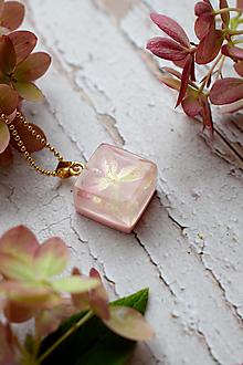 Náhrdelníky - Náhrdelník Ružová hortenzia 3103 B CHO - 13830844_