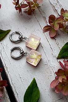 Náušnice - Náušnice Ružová hortenzia 3104 A CHO - 13830935_