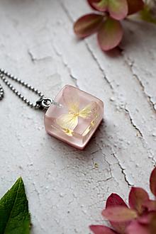 Náhrdelníky - Náhrdelník Ružová hortenzia 3104 B CHO - 13831021_