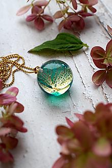 Náhrdelníky - Náhrdelník Smaragdová hortenzia gulička 3105 B CHO - 13831088_