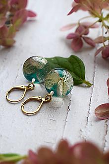 Náušnice - Náušnice Hortenzia smaragdová guličky 3105 A CHO - 13831232_