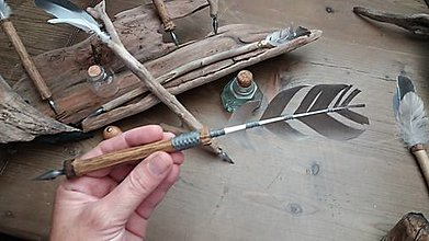 Papiernictvo - kaligrafické pero s vymeniteľným hrotom - 13830337_