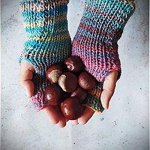 Rukavice - Bezprstové pletené  rukavičky veselé - 13833917_