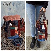 Košíky - 2v1 velký recy koš nebo manšestrová taška 4 - 13831473_