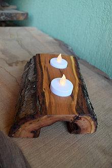Svietidlá a sviečky - Slivkový svietnik natur 1 - 13832409_