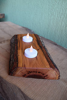 Svietidlá a sviečky - Slivkový svietnik natur 2 - 13832460_