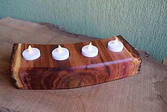 Svietidlá a sviečky - Slivkový svietnik natur 3 - 13832475_