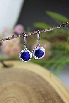 Náušnice - lapis lazuli náušnice - patenty striebro - 13832028_