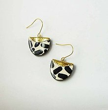 Náušnice - TANA hand made jewellery - keramika/zlato - 13830498_