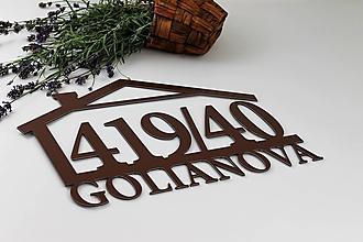 Tabuľky - Popisné číslo: Domček s ulicou - 13831612_