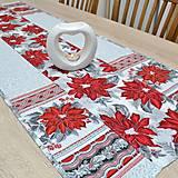 Úžitkový textil - Vianočný kvet - stredový obrus 130x44 - 13830183_
