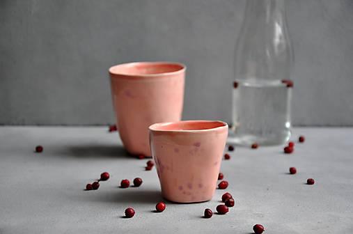 šálka, hrnček, pohár presso ružovo-fialový