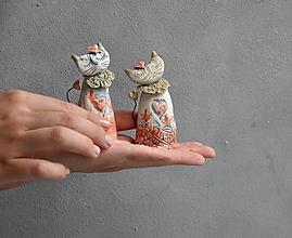 Dekorácie - Mačka , mačička oranžová - 13830650_