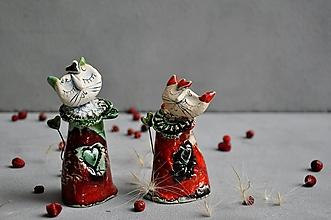 Dekorácie - Mačka, mačička červená - 13832353_