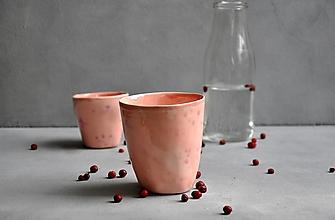 Nádoby - Šálka, hrnček, pohár ružovo-fialový - 13832840_