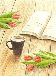 Magnetky - Tulipánové popoludnie, magnetka - 13833494_