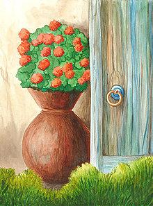 Magnetky - V záhrade, magnetka - 13833982_