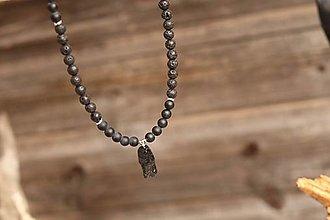 Šperky - Pánsky náhrdelník z minerálov onyx, láva, turmalín - 13832011_