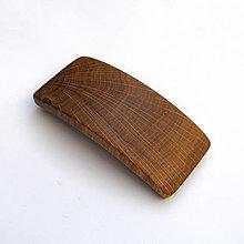 Ozdoby do vlasov - Drevená spona do vlasov - dubová priečna stredná - 13831881_
