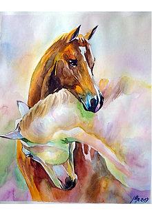 Obrazy - Horses - tlač A4, A3 - 13834374_