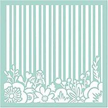 Nástroje - Šablóna Stamperia - 18x18 cm - prúžky, kvety - 13835010_