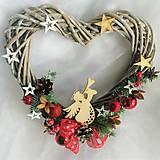Dekorácie - Vánoční dekorace-andělské srdce - 13835353_