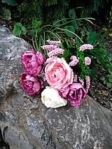 Dekorácie - kytica na hrob k ikebane - 13834703_