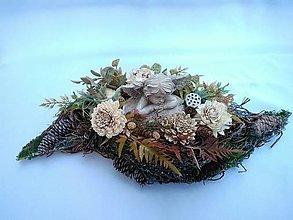 Dekorácie - zaťažená ikebana s anjelikom 50 cm - 13835446_