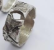 Prstene - Strieborná obrúčka Príroda2 - 13835142_