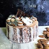 """Dekorácie - Zimná torta """"Lámaná čokoláda"""" - 13835348_"""