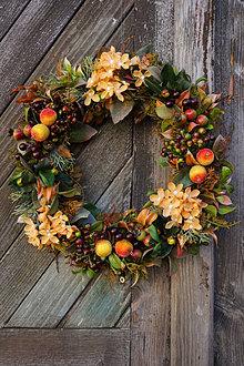 Dekorácie - Jesenný venček - Cukrové jabĺčka - 13836246_