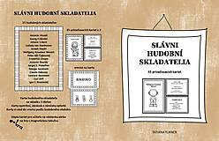 Knihy - Slávni Hudobní Skladatelia - priraďovacie karty - 13834569_