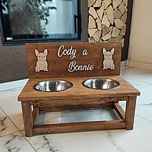 Pre zvieratá - Drevený stojan na misky pre psa - 13834723_
