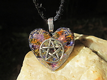 """Náhrdelníky - Org. šperk ,, Pentagram ochrany """" - 13834668_"""